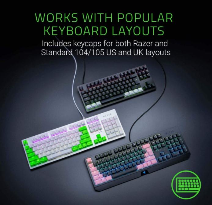 Razer PBT Keycapの画像