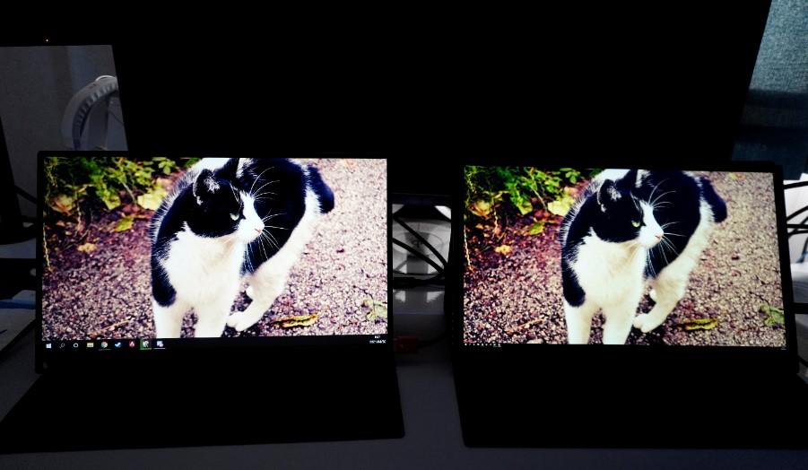 EVICIV15.6インチ4KとフルHDの違い比較画像